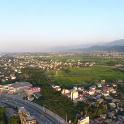 عکس هوایی از شهر چالوس دریا