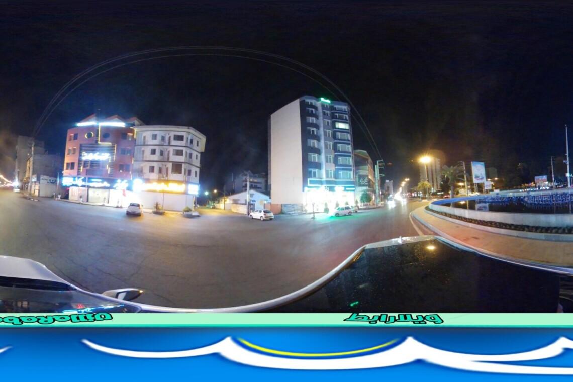 پانوراما میدان کریم آباد تور مجازی شهسوار تور مجازی تنکابن گردشگری مجازی تنکابن