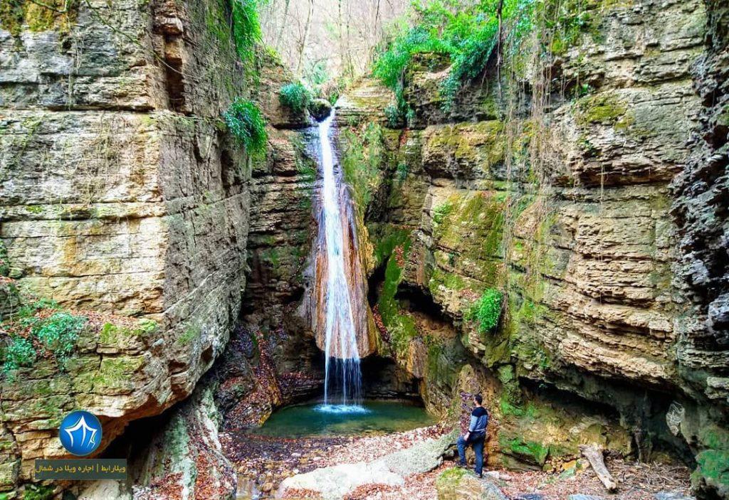 آبشار سنگنو ابشار سنگ نو بهشهر جاذبه بهشهر ابشار سنگ نو جنگل بهشهر دیدنی جذاب (۱)
