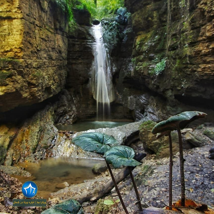 آبشار سنگنو ابشار سنگ نو بهشهر جاذبه بهشهر ابشار سنگ نو جنگل بهشهر دیدنی جذاب (۳)
