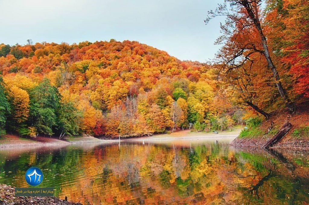 تصویر پاییز دریاچه چورت ساری