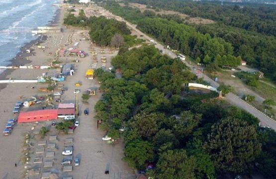 عکس هوایی تفرجگاه ساحلی نمک آبرود طرح سالمسازی دریا