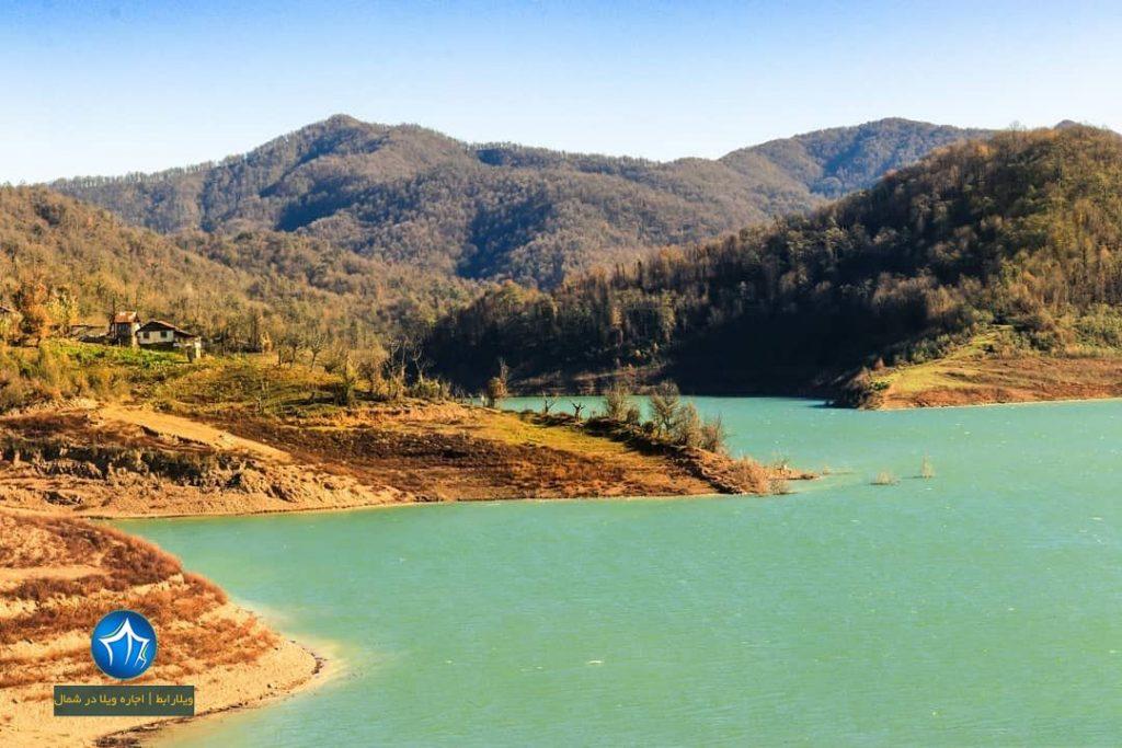 دریاچه سد تاریک رودبار سدتاریک بیجار رودبار رشت ویلارابط گیلان جاذبه گردشگری ماهیگیری گیلان (۳)