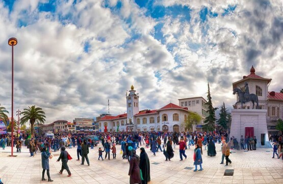 عکس میدان شهرداری رشت