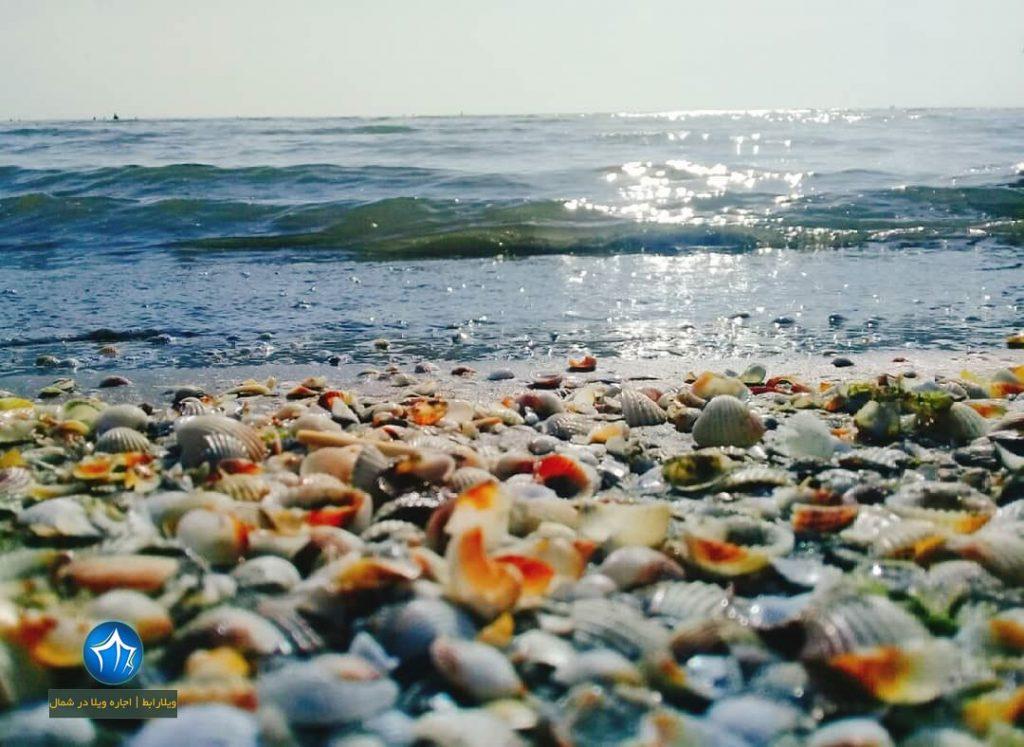ساحل صدف آستارا یکی از ساحل های زیبای دریای خزر (۱)