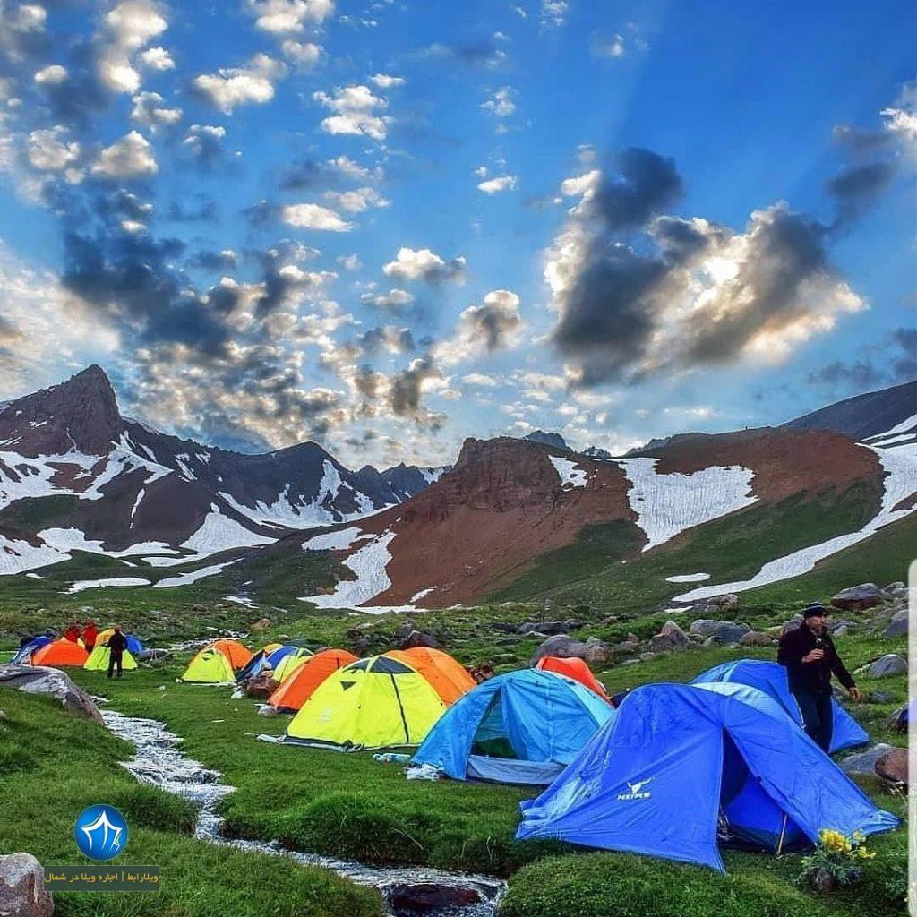 علم کوه صعود به علم کوه کلاردشت تور علم کوه بلندترین قله مازندران (۲)