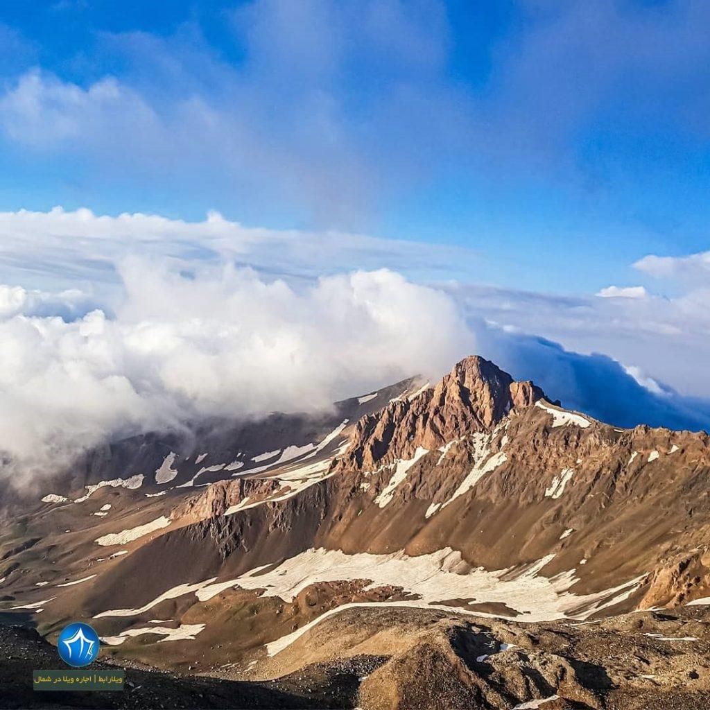 علم کوه صعود به علم کوه کلاردشت تور علم کوه بلندترین قله مازندران (۴)