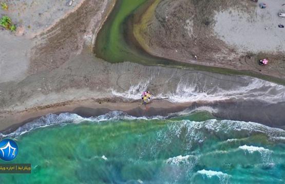 عکس هوایی ساحل دریای ایزدشهر