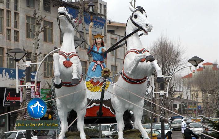 مجسمه آناهیتا در فومن - مجسمه آناهیتا فومن-عکس مجسمه آناهیتا۲