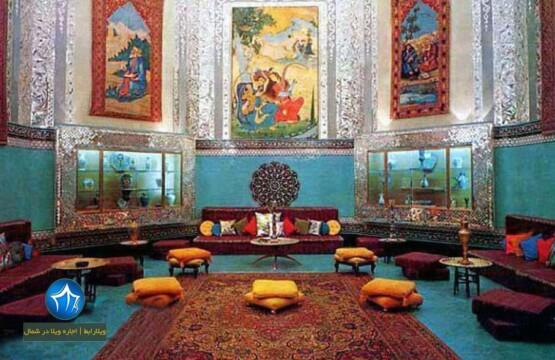 عکس از داخل کاخ صفی آباد بهشهر صفی اباد نمای داخلی