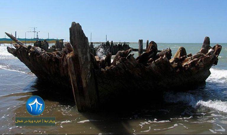کشتی صفوی بهشهر کشتی صفوی کجاست کشتی بهشهر ویلارابط جاذبه گردشگری بهشهر ساحل بهشهر (۲)