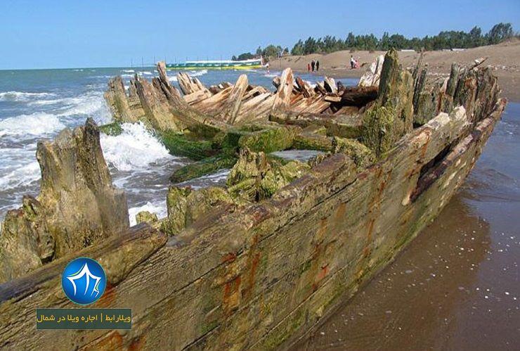 کشتی صفوی بهشهر کشتی صفوی کجاست کشتی بهشهر ویلارابط جاذبه گردشگری بهشهر ساحل بهشهر (۴)